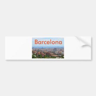 Luftaufnahme von Barcelona, Spanien Autoaufkleber
