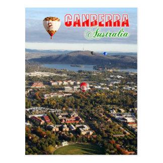Luftaufnahme von Canberra- - Australien-Hauptstadt Postkarte