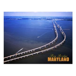 Luftaufnahme von Chesapeake Bay-Brücke, Maryland Postkarte