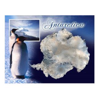 Luftaufnahme von der Antarktis Postkarte