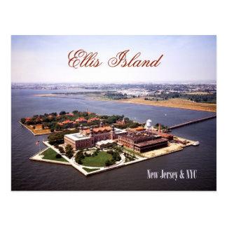 Luftaufnahme von Ellis Island, von NJ u. von NY Postkarte