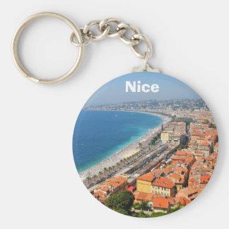 Luftaufnahme von französischem Riviera in Nizza, Schlüsselanhänger