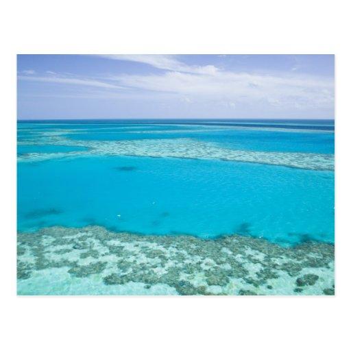 Luftaufnahme von Great Barrier Reef vorbei Postkarte