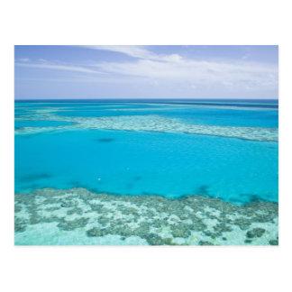 Luftaufnahme von Great Barrier Reef vorbei Postkarten