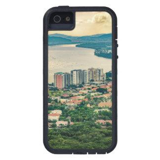 Luftaufnahme von Guayaquil-Stadtrand vom Flugzeug iPhone 5 Etui