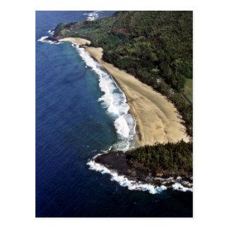 Luftaufnahme von Hanalei Strand - Kauai Postkarte