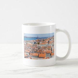 Luftaufnahme von Lissabon, Portugal Kaffeetasse