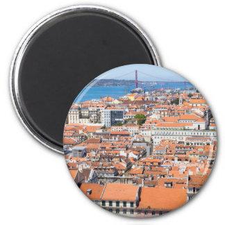 Luftaufnahme von Lissabon, Portugal Runder Magnet 5,1 Cm