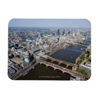 Luftaufnahme von London Recchteckiger Magnet