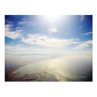 Luftaufnahme von Long Beach, Kalifornien Postkarte