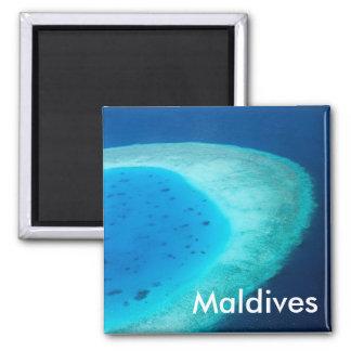 Luftaufnahme von Malediven-Atoll Quadratischer Magnet