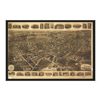 Luftaufnahme von Middletown, New York (1921) Leinwanddruck