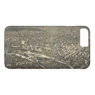 Luftaufnahme von Minneapolis, Minnesota (1885) iPhone 8 Plus/7 Plus Hülle