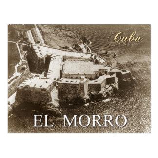 Luftaufnahme von Morro Schloss, Havana, Kuba Postkarte