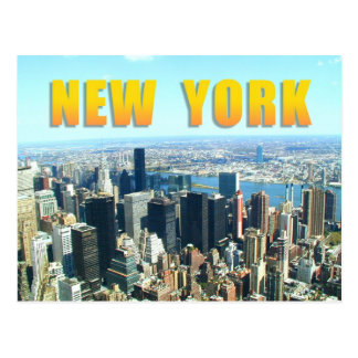 Luftaufnahme von New York City Postkarte