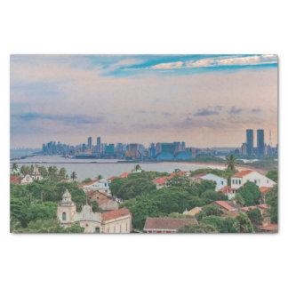 Luftaufnahme von Olinda und von Recife Pernambuco Seidenpapier