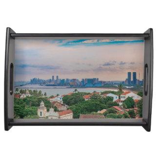 Luftaufnahme von Olinda und von Recife Pernambuco Tablett