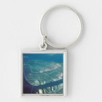 Luftaufnahme von Pelikan-Insel Schlüsselanhänger