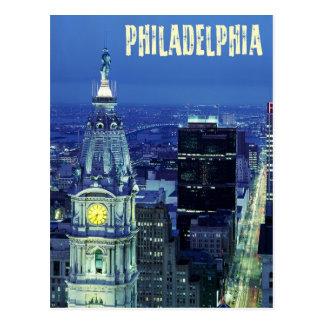 Luftaufnahme von Philadelphia mit Rathaus Postkarte