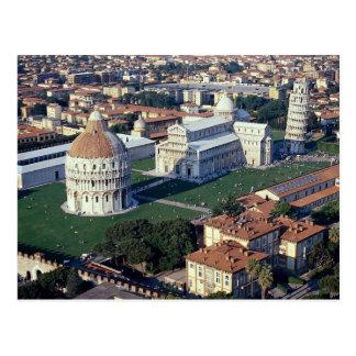 Luftaufnahme von Pisa, Italien Postkarte