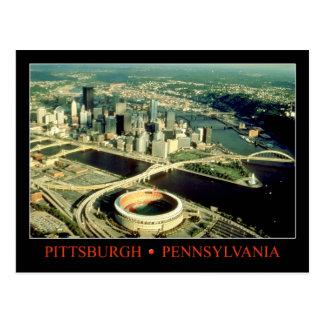 Luftaufnahme von Pittsburgh, Pennsylvania Postkarte