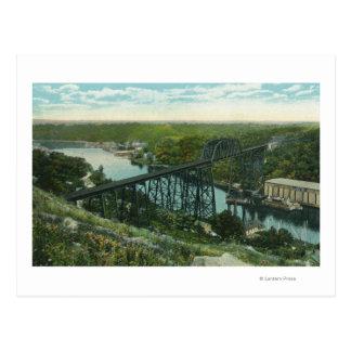 Luftaufnahme von Rondout Nebenfluss und von Wilbur Postkarte