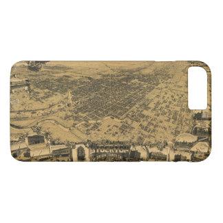 Luftaufnahme von Stockton, Kalifornien (1895) iPhone 8 Plus/7 Plus Hülle