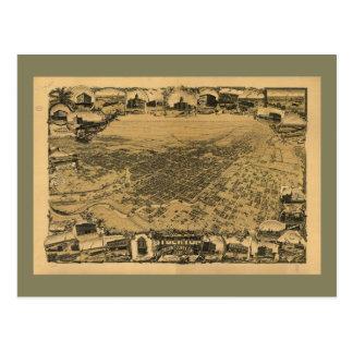 Luftaufnahme von Stockton, Kalifornien (1895) Postkarte