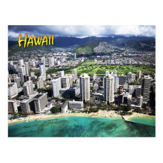 Luftaufnahme von Waikiki Strand, Oahu, Hawaii Postkarte