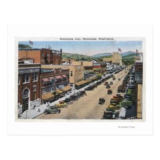 Luftaufnahme von Wenatchee Allee Postkarte