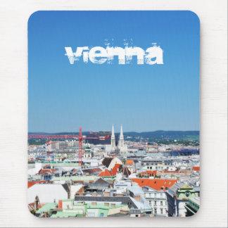 Luftaufnahme von Wien, Österreich Mousepad