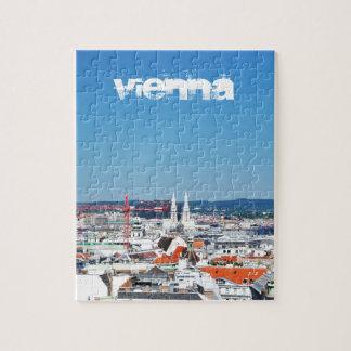 Luftaufnahme von Wien, Österreich Puzzle