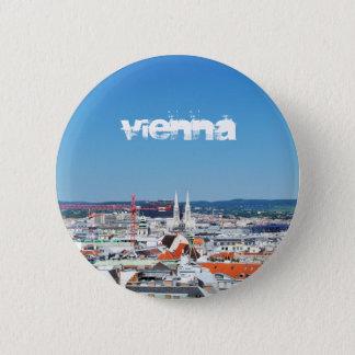 Luftaufnahme von Wien, Österreich Runder Button 5,1 Cm