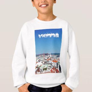 Luftaufnahme von Wien, Österreich Sweatshirt