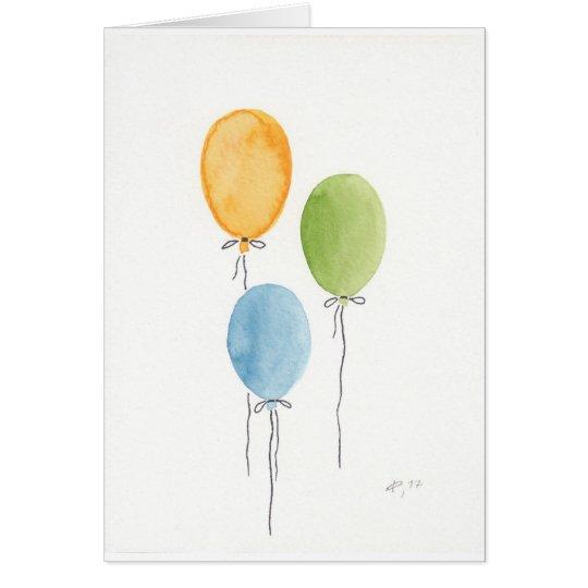 Luftballons Karte