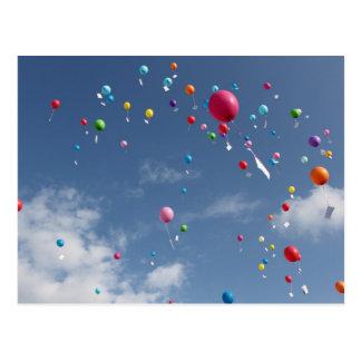 Luftballons Postkarte