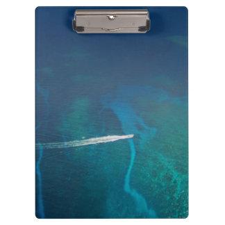 Luftbildfotografie der Malediven Klemmbrett
