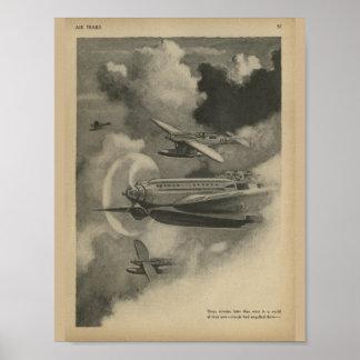 Luftfahrt-Flugzeug-Marine-Kunst-Druck 1938 Poster