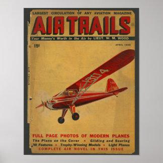 Luftfahrt-Flugzeug-Titelseiten-Kunst-Druck 1938 Poster