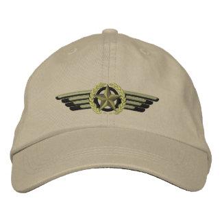 Luftfahrt gestickte Stern-Lorbeer-Versuchsflügel Bestickte Kappe