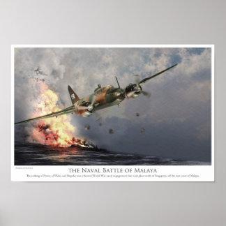 """Luftfahrt-Kunst-Plakat """"die Seeschlacht vor Malaya Poster"""