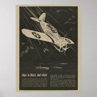Luftfahrt-Marine-Flugzeug-Entwurfs-Kunst-Druck Poster