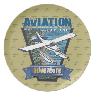 Luftfahrt-Seeflugzeug-Abenteuer Melaminteller