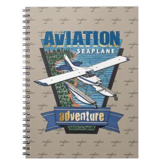 Luftfahrt-Seeflugzeug-Abenteuer Notizblock