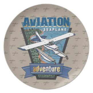 Luftfahrt-Seeflugzeug-Abenteuer Teller