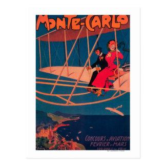 Luftfahrt-sportliches Plakat Postkarte