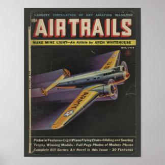 Luftfahrt-Titelseiten-Flugzeug-Kunst-Druck 1938 Poster