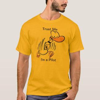 Luftfahrt-VersuchsSpaß-Cartoon-Enten-T-Shirt T-Shirt