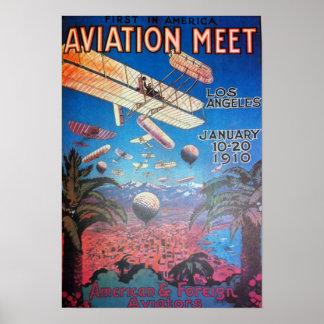 Luftfahrt-zeigen in Los Angeles Poster