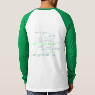 Luftfahrttechnik-Wort-Wolke T-Shirt